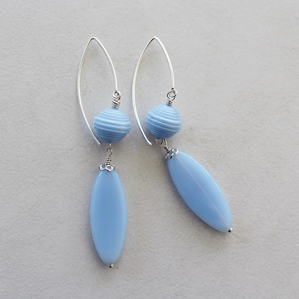 Vintage Glass and Lucite Earrings - The Janessa Earrings