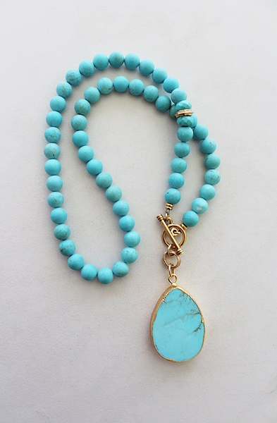 Magnesite Lariat Necklace - The Cozumel Necklace