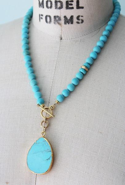 Magnesite Lariat Necklace - The Cozumel Necklace