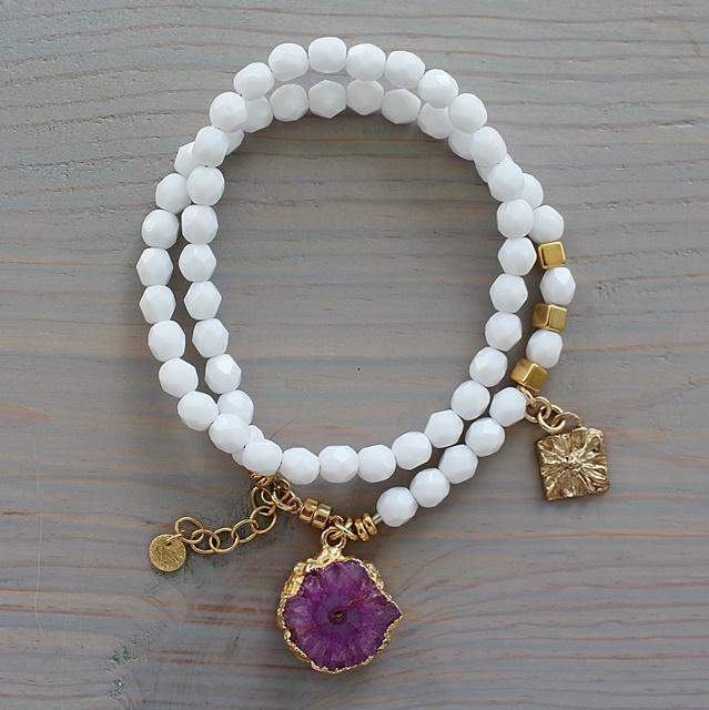 DOORBUSTER SALE - Double Wrap Gemstone Bracelet - The Trina Bracelet