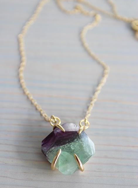 DOORBUSTER - Fluorite Pendant Necklace - The Willa Necklace