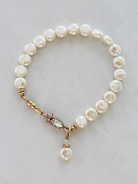 Vintage Glass Miriam Haskell Pearl Bracelet - The Raye Bracelet