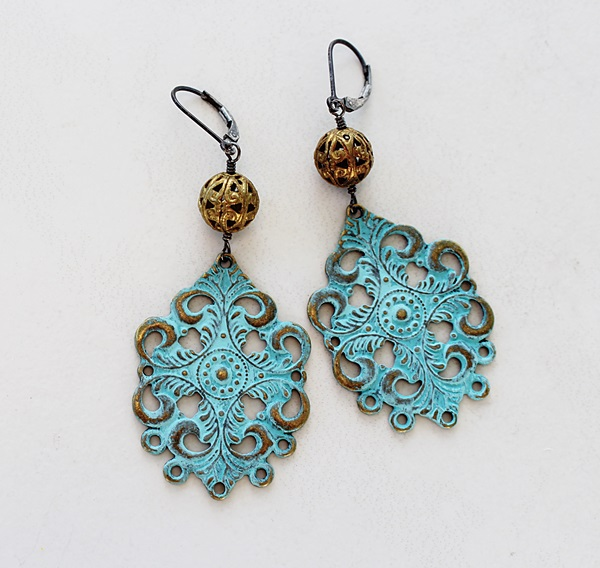 Filigree and Brass Earrings - The Ibiza Earrings