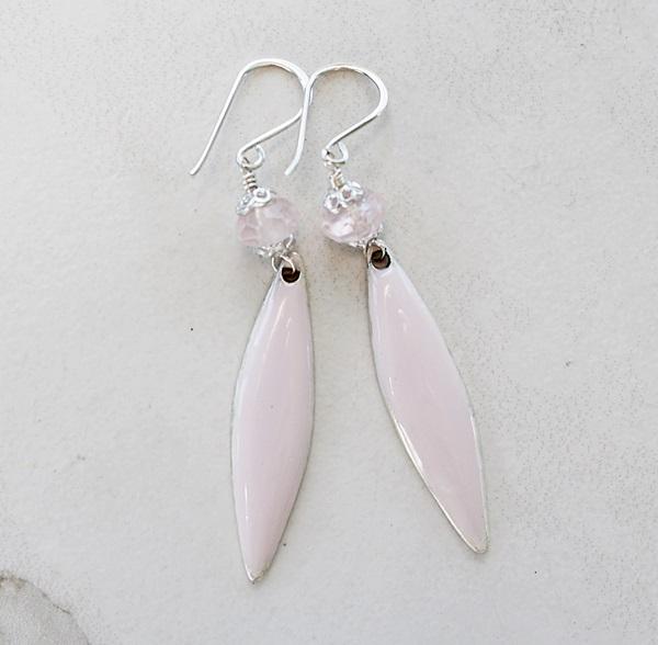 Rose Quartz and Resin Earrings - The Gigi Earrings