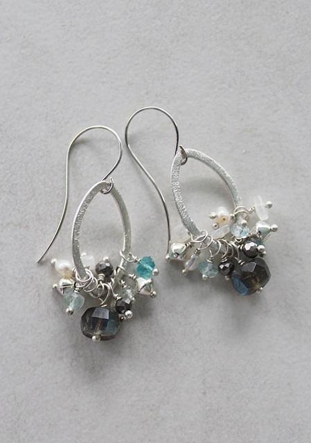 Labradorite Cluster Earrings - The Jess Earrings