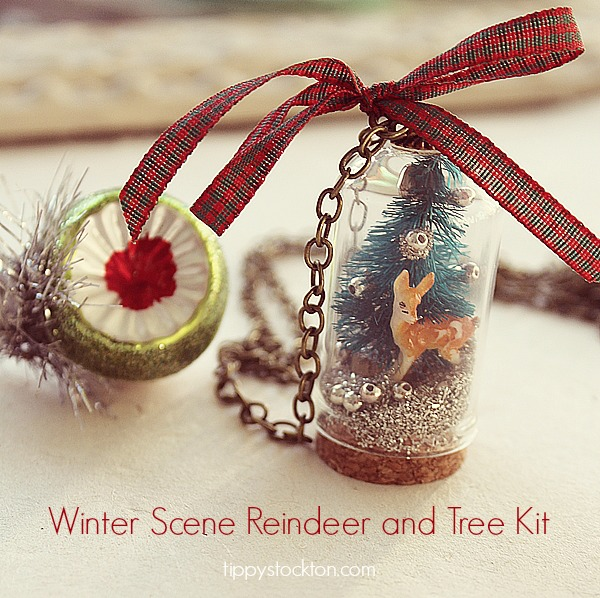 Christmas Tree/Reindeer Ornament or Necklace Kit