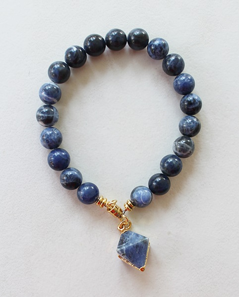Sodalite Bracelet in Sterling or Gold - The Dina Bracelet