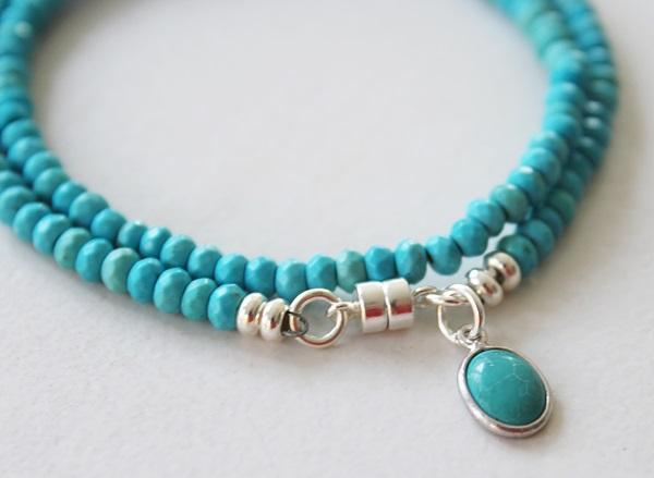 Double Wrap Turquoise Bracelet - The Largo Bracelet