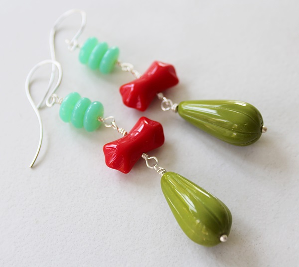 Vintage Glass Earrings - The Trixie Earrings