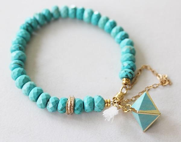 Turquoise Magnesite Bracelet - The Hermosa Bracelet