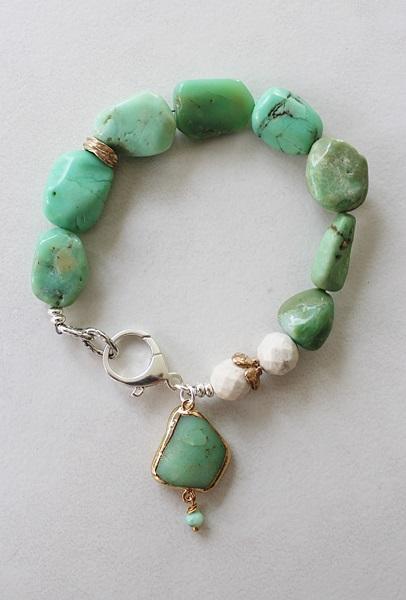 Chrysoprase and Riverstone Bracelet - The Malibu Bracelet