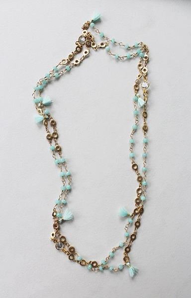 Long Layering Tiny Tassel Necklace - The Mara Necklace