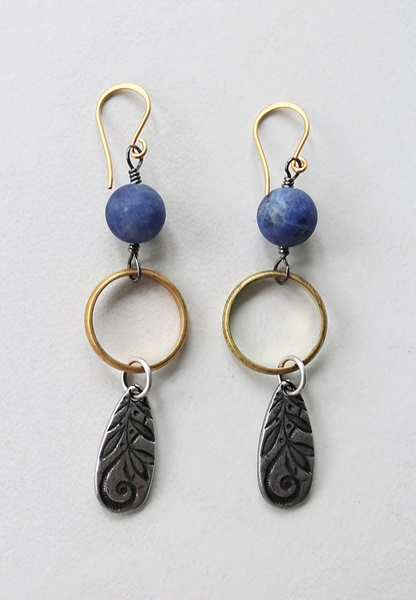 Lapis Mixed Metal Earrings - The Joni Earrings