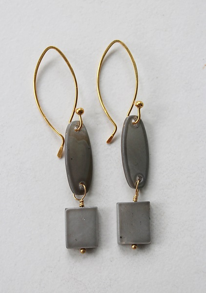 Shell and 14kt Gold Earrings - The Beach Earrings