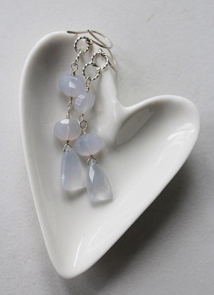 Blue Chalcedony and Sterling Silver Earrings - The Skye Earrings