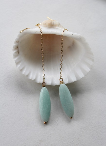 Amazonite Earrings - The Amanda Earrings