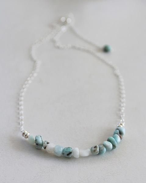 Larimar Bar Necklace - The Janni Necklace