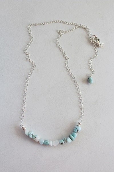 Larimar Bar Necklace - The Janni Necklace