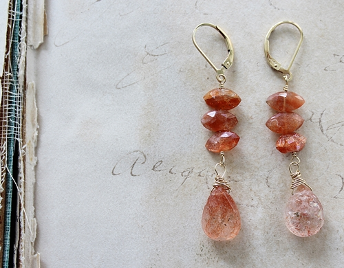 Sunstone Earrings - The Ella Earrings