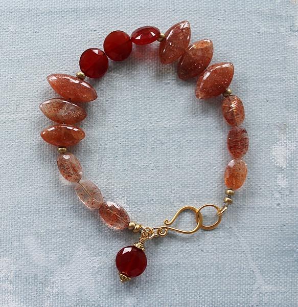 Sunstone and Carnelian Bracelet - The Arizona Bracelet