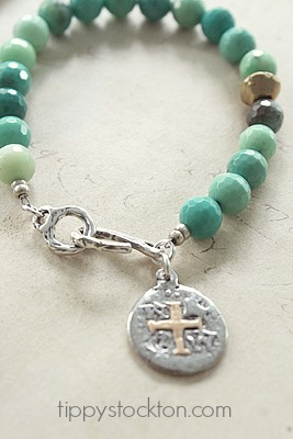 Green Grass Opal and Sterling Silver Bracelet - Pieces of Eight Bracelet
