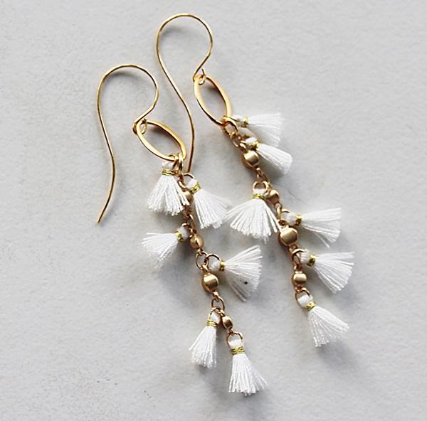 Mini Tassel and 14kt Gold Fill Earrings - The Caryn Earrings