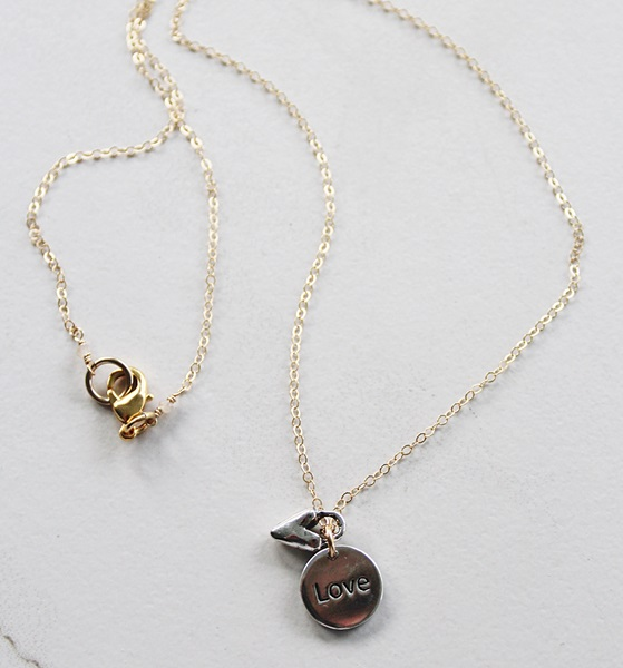 Silver LOVE Pendant Necklace -  The LOVE Necklace
