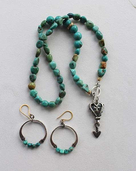 Turquoise Hoop Earrings - The Marisol Earrings