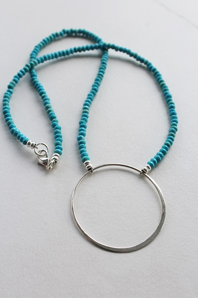 Turquoise O Necklace - The Julia Necklace