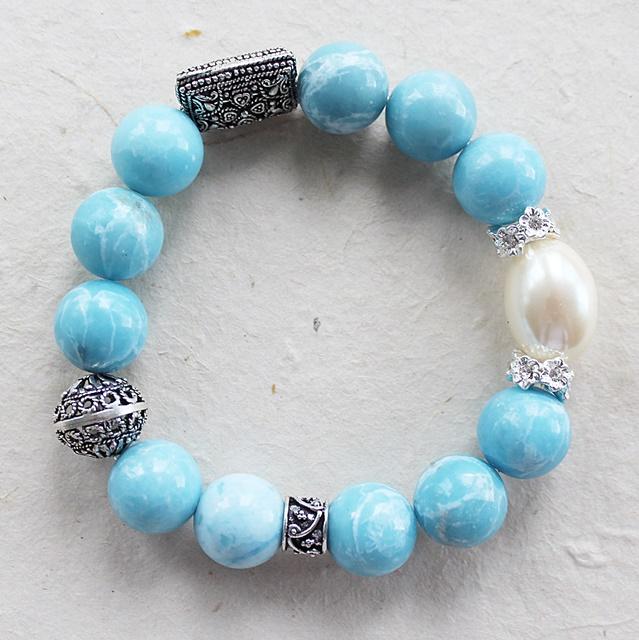 Larimar Stretch Bracelet - The Jolie Bracelet