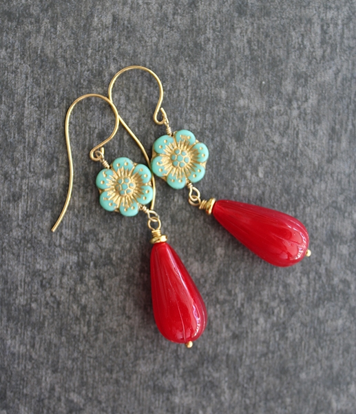 Czech Glass Earrings -  The Bloom Earrings