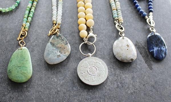Amazonite and Jasper Necklace - The Ciara Necklace
