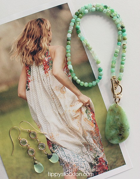 Chrysoprase Necklace - The Quinn Necklace