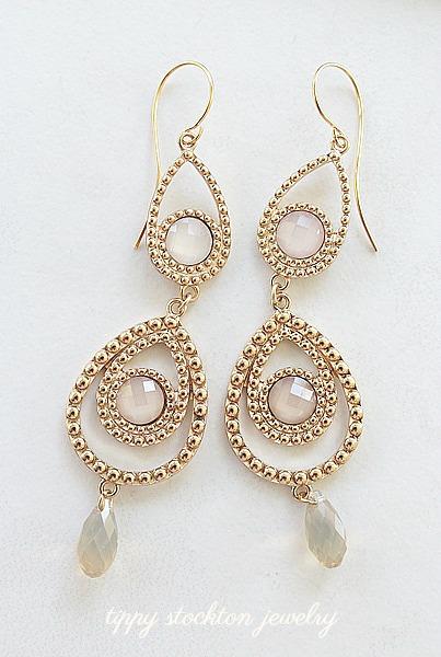 Chandelier with Swarovski Element Earrings - The Gwen Earrings