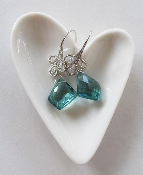 Blue Topaz and Elegant CZ Earrings - The Delia Earrings