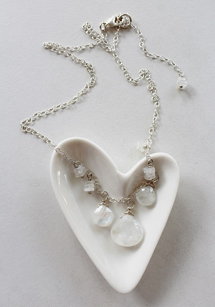 Moonstone and Sterling Silver Necklace - The Mariah Necklace