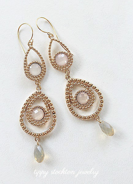Chandelier with Swarovski Element Earrings - The Gwen Earrings