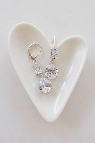 CZ and Sterling Silver Drops - The Rachel Earrings