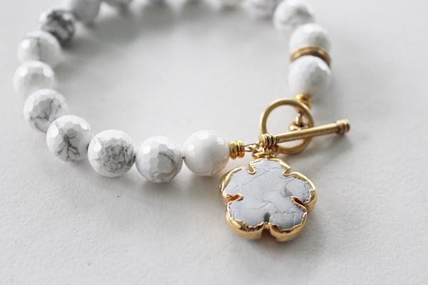 White Magnesite Bracelet - The Dana Bracelet