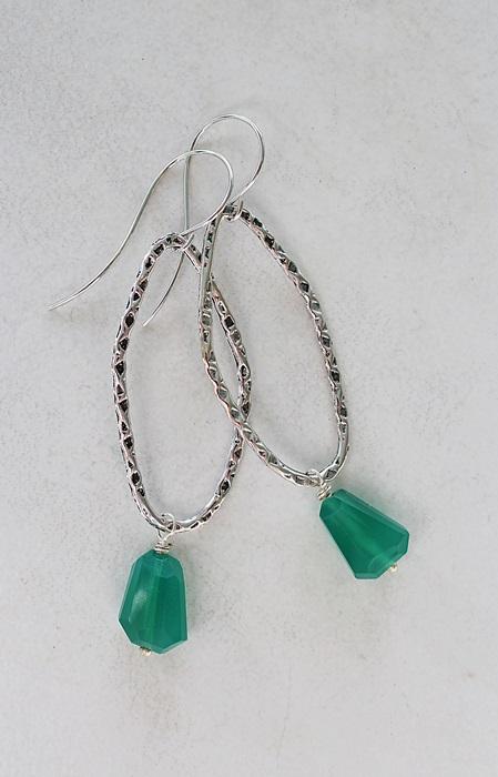 Green Quartz Hoop Earrings - The Kerry Earrings