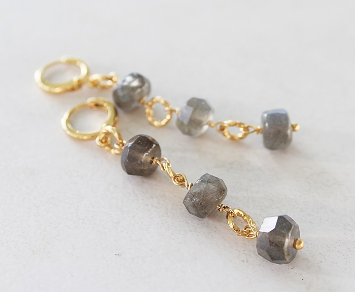 Labradorite Trio Earrings - The Larissa Earrings