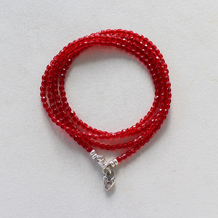 Valentine Red Wrap Bracelet - The Be Mine Bracelet