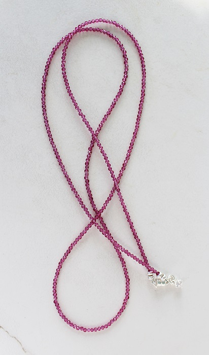 Micro Ruby Quad Wrap Bracelet/Necklace - The Leigh Bracelet