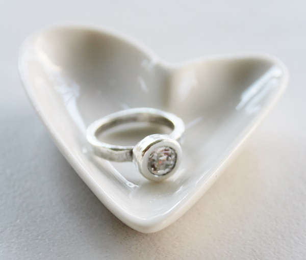 Organic Gold Plated or Silver Plated Rhinestone Rings - The Lily Ring