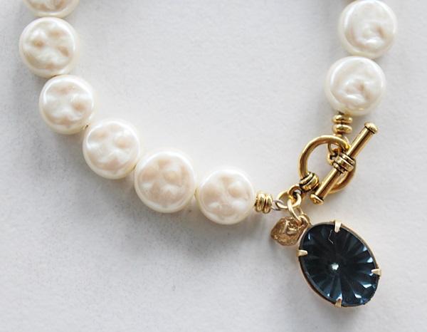 Vintage Miriam Haskell Coin Pearl Bracelet - The Greta Bracelet