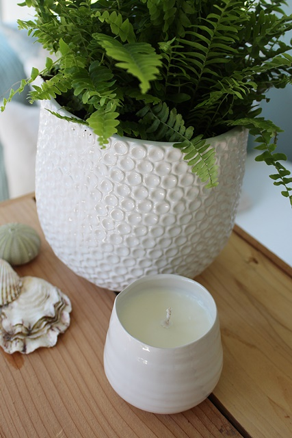 Hand Poured Soy Candles - White Cachepot