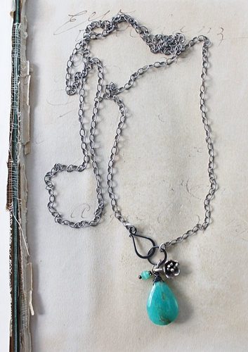 Peruvian Opal Briolette Lariat Style Necklace - The Melisa Necklace