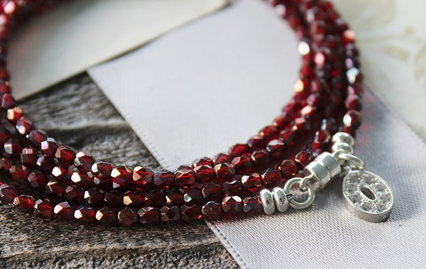 SPECIAL VALUE - Czech Glass Quadruple Wrap Bracelet/Necklace - The Kyra Bracelet