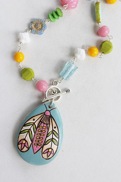 Summer Bug Periwinkle Necklace