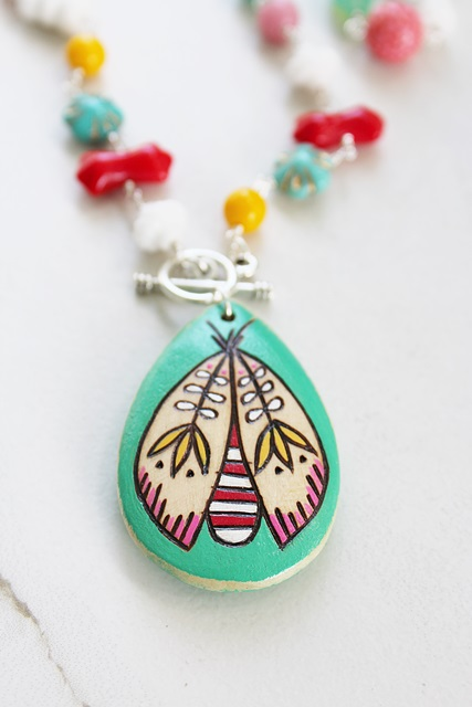 Summer Bug Aqua Necklace
